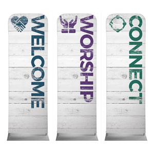 Shiplap White Core Set 2 x 6 Sleeve Banner