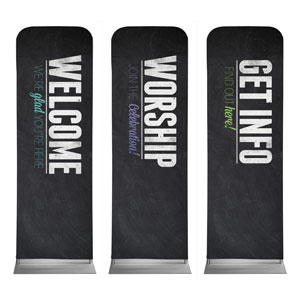 Slate Core Set 2 x 6 Sleeve Banner
