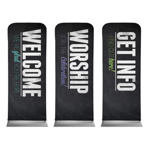 "Slate Core Set 2'7"" x 6'7"" Sleeve Banners"