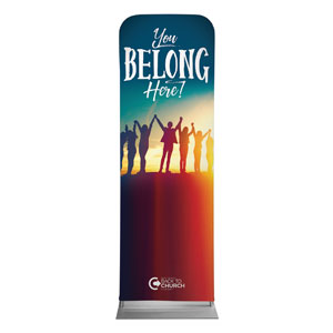 BTCS You Belong Here 2 x 6 Sleeve Banner