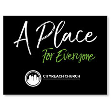 CityReach Black and Green Place Banner