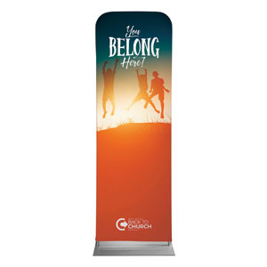 BTCS You Belong Here Kids 2 x 6 Sleeve Banner