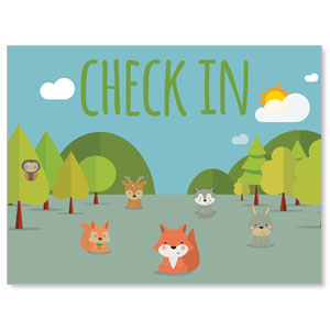 Woodland Friends Check In Banners