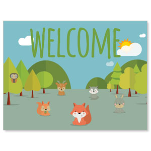 Woodland Friends Welcome Jumbo Banners