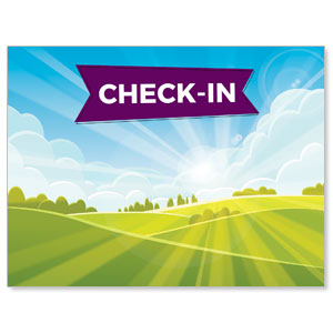 Bright Meadow Check In Banners