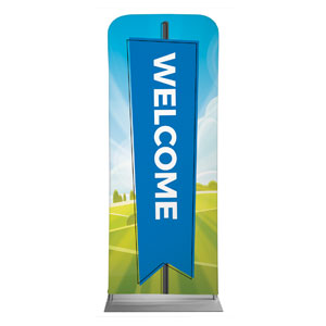 "Bright Meadow Welcome 2'7"" x 6'7"" Sleeve Banners"