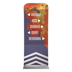 "Chevron Welcome Fall Directional 2'7"" x 6'7"" Sleeve Banners"