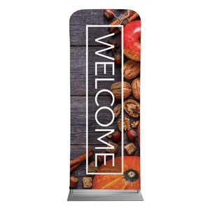 "Wooden Slats Fall 2'7"" x 6'7"" Sleeve Banners"