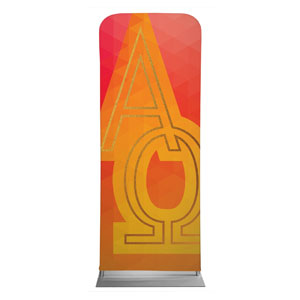 "Bold Iconography Alpha Omega 2'7"" x 6'7"" Sleeve Banners"