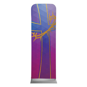 Bold Iconography Purple Cross 2 x 6 Sleeve Banner