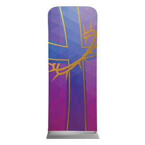"Bold Iconography Purple Cross 2'7"" x 6'7"" Sleeve Banners"