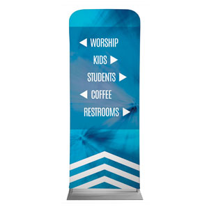 "Chevron Welcome Blue Directional 2'7"" x 6'7"" Sleeve Banners"