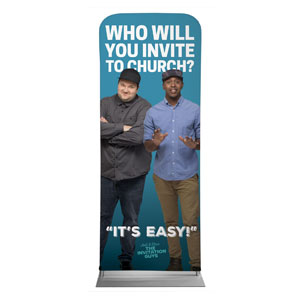 "Josh and Steve 2'7"" x 6'7"" Sleeve Banners"