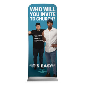 "Josh and Steve Thumbs Up 2'7"" x 6'7"" Sleeve Banners"