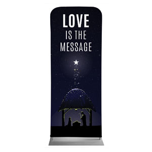 "Love Is the Message 2'7"" x 6'7"" Sleeve Banners"