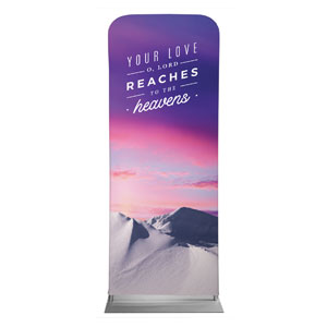 "Mountains Your Love 2'7"" x 6'7"" Sleeve Banners"