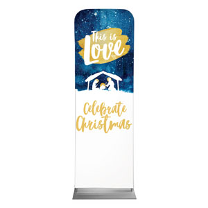 Painted Nativity 2 x 6 Sleeve Banner