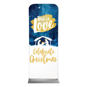 "Painted Nativity 2'7"" x 6'7"" Sleeve Banners"
