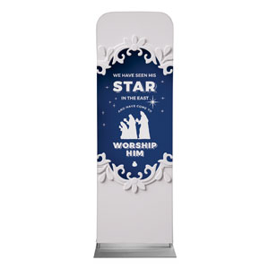 Paper Cut Out Christmas Blue 2 x 6 Sleeve Banner