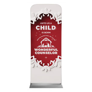 "Paper Cut Out Christmas Red 2'7"" x 6'7"" Sleeve Banners"