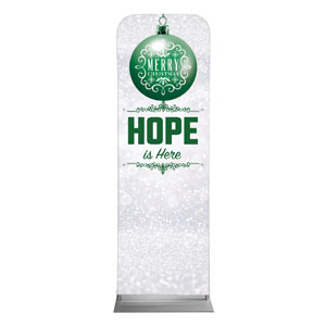 Silver Snow Hope Ornament 2 x 6 Sleeve Banner
