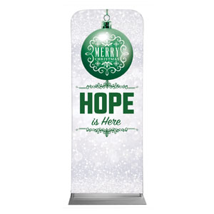 "Silver Snow Hope Ornament 2'7"" x 6'7"" Sleeve Banners"