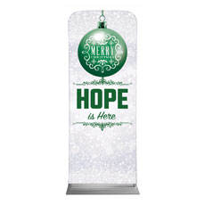 Silver Snow Hope Ornament