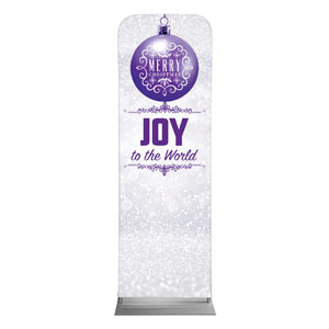 Silver Snow Joy Ornament 2 x 6 Sleeve Banner