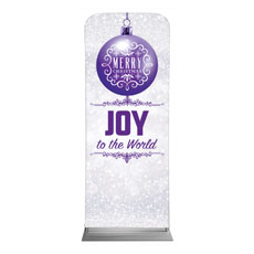 Silver Snow Joy Ornament