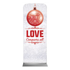 Silver Snow Love Ornament
