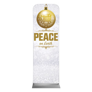 Silver Snow Peace Ornament 2 x 6 Sleeve Banner