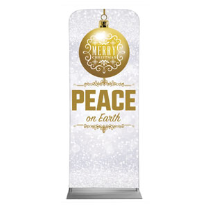 "Silver Snow Peace Ornament 2'7"" x 6'7"" Sleeve Banners"