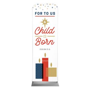 Stamped Christmas Child Born 2 x 6 Sleeve Banner