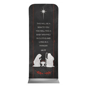 White Chalk Christmas Nativity Banners
