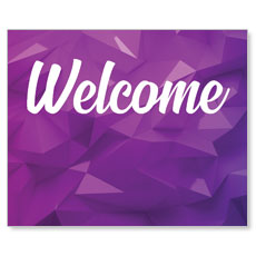 Welcome Purple Geometric