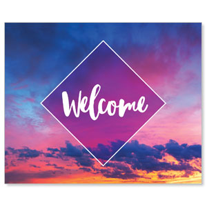Purple Welcome Sky Banners