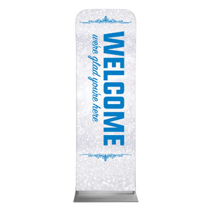 Silver Snow Welcome 2 x 6 Sleeve Banner