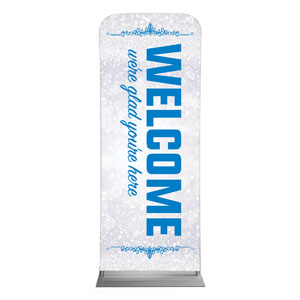"Silver Snow Welcome 2'7"" x 6'7"" Sleeve Banners"