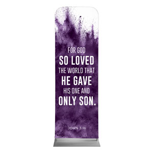 Purple Powder John 3:16 2 x 6 Sleeve Banner