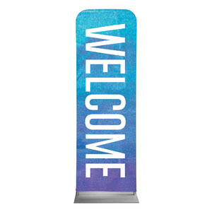 Blue Purple Easter At 2 x 6 Sleeve Banner
