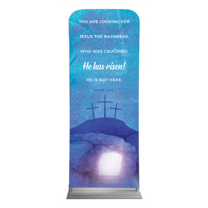 "Blue Purple Easter Tomb 2'7"" x 6'7"" Sleeve Banners"