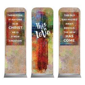 This is Love 2 Cor 5:17 2 x 6 Sleeve Banner