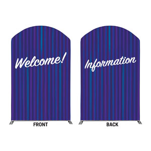 Modern Stripes Welcome Information 5' x 8' Curved Top Sleeve
