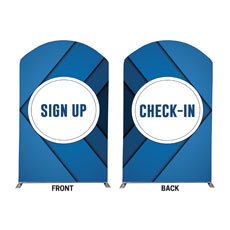 Bold Blue Sign Up Check In