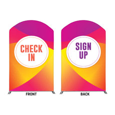 Curved Colors Sign Up Check In