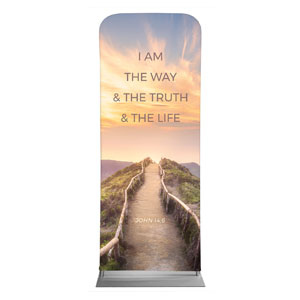 "Way Truth Life Path 2'7"" x 6'7"" Sleeve Banners"