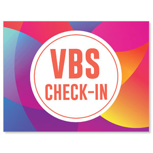 Curved Colors VBS Check-In Jumbo Banners