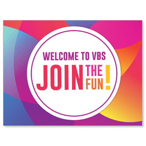 Curved Colors VBS Welcome Jumbo Banners