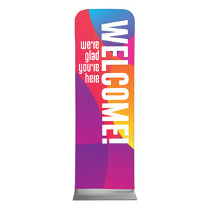 Curved Colors Welcome 2 x 6 Sleeve Banner