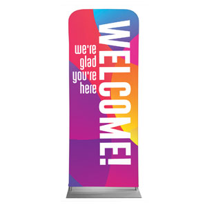 "Curved Colors Welcome 2'7"" x 6'7"" Sleeve Banners"